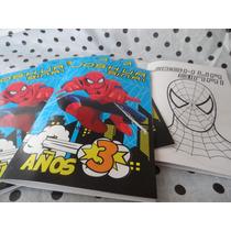 Libro Para Colorear Personalizado Fiestas Invitaciones Bolos