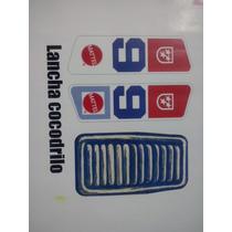 Kid Acero Lancha Cocodrilo Calcomanias Stickers Big Jim
