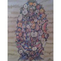 Pintura En Serigrafía María Madre De La Manzana Efraín Urzúa