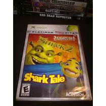 Shrek 2 Y Shark Tale 2 Discos En 1 Xbox Completos Seminuevos