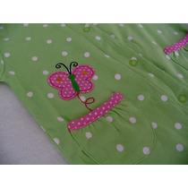 Hermoso Mameluco Puntos Verde Rosa Carters 9m