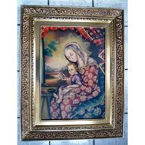 Pintura Al Óleo Con Tema Religioso. Pm0