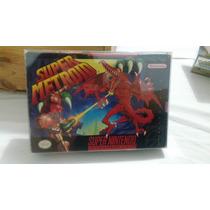 Super Nintendo - Super Metroid Caja Manual Completo