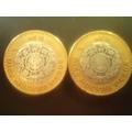 Monedas Bimetalicas, Nucleo De Plata! 1994 Y  1995!