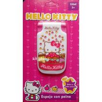 Fiesta De Hello Kitty, Espejo Con Peine, Original De Sanrio