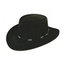 Gorra Stetson Royal Flush Sombrero Negro, 7 1/8