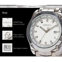 Reloj Para Caballero Agentx Shark Casio Analogo Cuarzo Acero