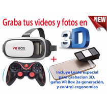 Graba Tus Videos En 3d, Visor Vr, Gafas 3d Realidad Virtual