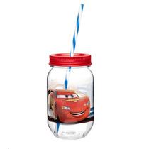 Fiesta Cars Mason Jar Vaso Tritan Infantil Dulcero
