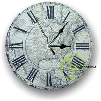 Reloj De Pared Mapas Antiguos Vintage