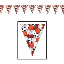 Sports Party Banner Banderín De Accesorios (1 Cargo) (1 / Pk