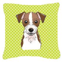 Tablero De Ajedrez Verde Lima Jack Russell Terrier De Tela D