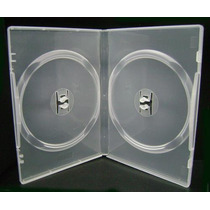 50 Estuches Dobles Transparentes Para Dvd Dvds Cd Cds