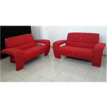 Sala Roja 2 Sillones Love Seat Tapiz Loneta Ideal P Departa