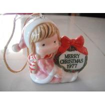 Preciosa Figura De Porcelana Retro Vintage Navidad 1977