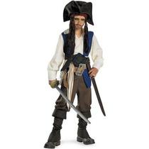 Disfraz De Sparrow Piratas Caribe Para Niños Y Adolescentes