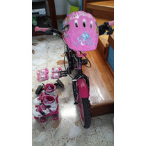 Bicicleta Hello Kitty Y Patines Barbie