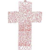 Vector Oración Padre Nuestro Cnc Corte Laser Dxf