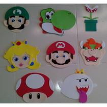 Dulceros Mario Bros Figuras Decorativas Mario Bros Foami