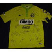 Jersey Autografiado Firmado America Aguilas Oribe Sambueza