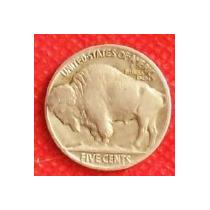 5 Centavos Dolar 1935 Estados Unidos Moneda Búfalo Indio Vbf