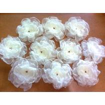 Flores De Organza Pasador Cabello Seguro Ropa Util Moda Au1