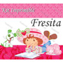 Kit Imprimible Strawberry Fresita Rosita Invitaciones Marcos
