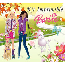 Kit Imprimible Barbie ¿ Invitaciones, Tarjetas, Cajas, Fondo