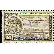 México, Sin Marca Charnela, Avión Escudo 20c 1929