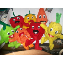 Gcg Lote Juego De Titeres Frutas 7 Pzas