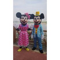 Botarga Disfraz Traje Tamaño Adulto Mickey Minnie Mouse
