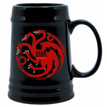 Game Of Thrones Ceramic Stein Targaryen Sigil Tarro