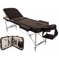 Cama Profesional Portatil Masajes Merax Aluminium Black