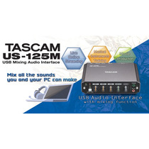 Tascam Us-125 Interface Usb Profesional Con Funcion De Mixer