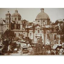Antigua Tarjeta Postal Basilica De Guadalupe C/tranvias 1900