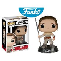Rey Star Wars Funko Pop Pelicula Guerra De Las Galaxias