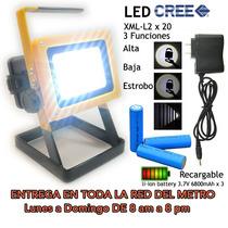 Lampara Reflector Linterna Portatil Y Recargable Emergencia
