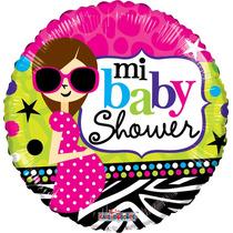 5 Globos Metálicos Mi Baby Shower Mamá Chic 18 Pulgadas