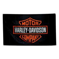 Bandera Harley Davison Motos 1.5por90cm Para Agencia Club
