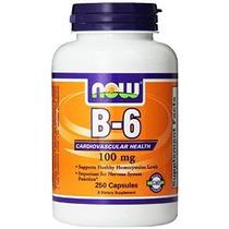Now Foods La Vitamina B-6 250 Cápsulas / 100mg