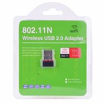 Tarjeta Red Inalambrica Con Antena Wifi Usb 300 Mts 150mbps