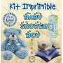 Kit Imprimible Baby Shower Niño - Decoraciones, Cajitas