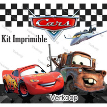 Kit Imprimible Cars Diseña Tarjetas Invitaciones De Cumple