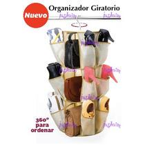 Organizador Gira Zapatera Closet Cuelga Bolsas Zapatos Jt**