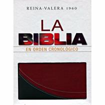 Biblia Cronológica, Imitación Piel, Duotono Rojo/negro