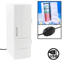 Mini Refrigerador Usb Espacio Para Dos Latas O Una Botella