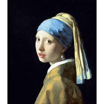 Lienzo Tela La Joven De La Perla Jan Vermeer 1666 Barroco