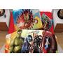 Set De Sábanas Avengers Hd Individual + Funda Decorativa