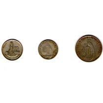 Paquete De 3 Monedas, 10 Centavos Y Un Cuarto De Quetzal