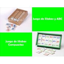 Juguetes Didacticos: Juegos De Sílabas Simples Y Compuestas